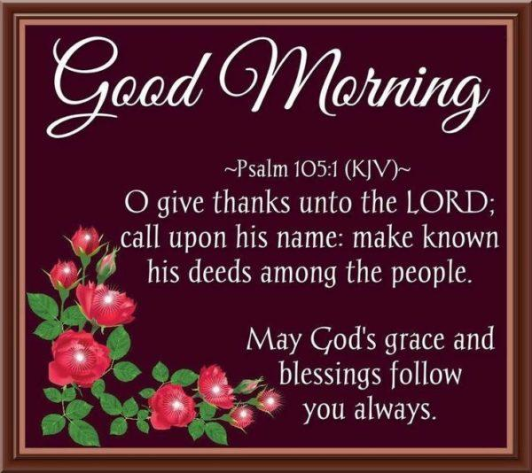 Good Morning Blessings With Bible Verse